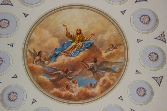 Basilica of the National Shrine of the Assumption of the Blessed Virgin Mary : Inside one of the smaller domes.