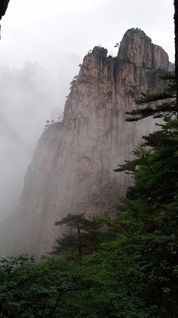 Mt. Huangshan (Yellow Mountain): Granite peaks in the fog