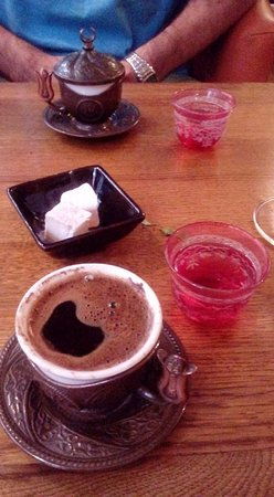 Fez: Lovely Turkish coffee to end our meal.
