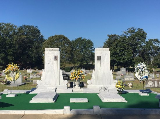 Hank Williams Museum: the resting place of Hank and Audrey Williams. Oakwood Cemetery Annex, Montgomery, AL