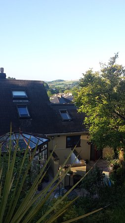 The Great Grubb Bed and Breakfast: View of B & B and beyond from the top of the garden.