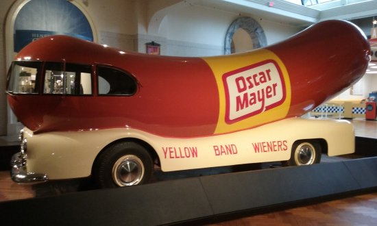 Генри Форд: Oscar Mayer weiner mobile. A classic remembered from our childhood.