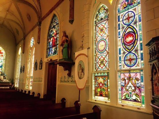 Schulenburg, TX : Inside St Mary's High Hill