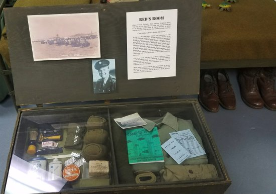 Camp Roberts Historical Museum: Bob Hope's foot locker from his time stationed at Camp Roberts