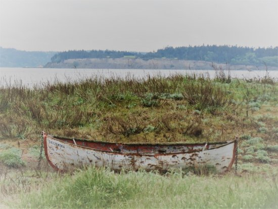 Fort Worden State Park: Canoe and view of the water