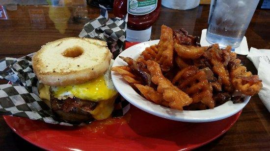 Rock Hill, SC: Brinner burger!