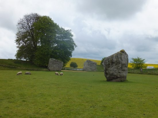 Avebury, UK: Stones in background are thought to be the entrance stones to the stone circle.