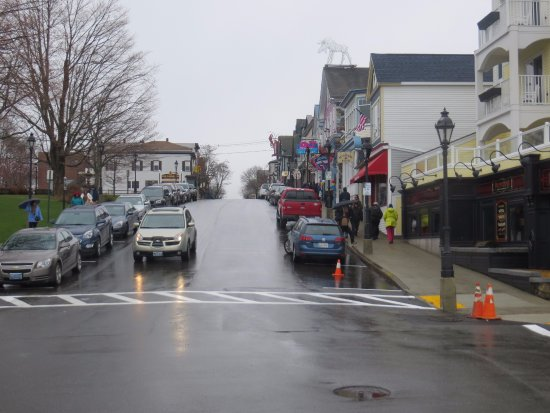 Village Green: With Agamont Park on the left and West Street in foreground, we walked up Main Street