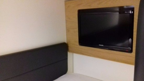 YOTELAIR London Heathrow Airport: TV in the bed box