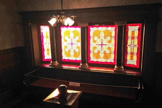 Jeffersonville, IN: Ornate stained glass windows abound