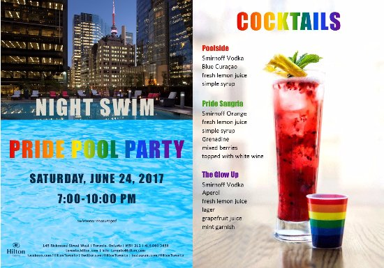 Hilton Toronto: Celebrate PRIDE Weekend poolside with our Night Swim party!