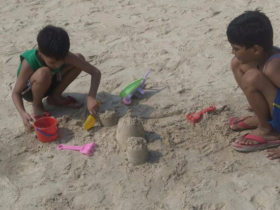 Sand castles at Shiroda