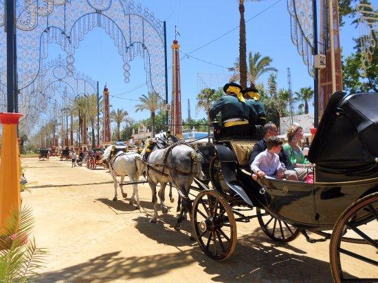 Feria del Caballo: Coche de caballos