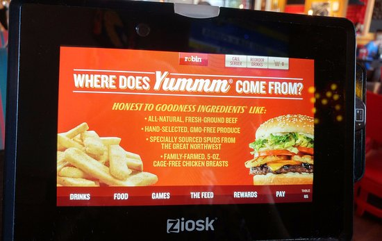 Red Robin Gourmet Burgers: Ziosk - check out, play games, reorder drinks