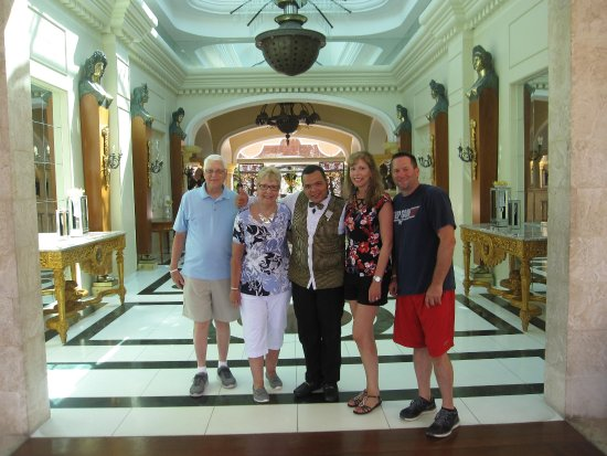 Iberostar Grand Hotel Bavaro: Us with Reynaldo on our last day.