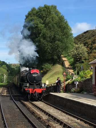Pictures of North Yorkshire Moors Railway taken at Goathland Station midway along the line.