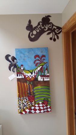 Cormier's Studio: Artwork at entrance to room