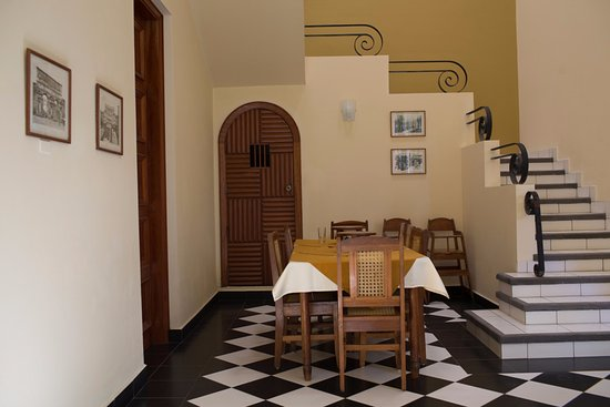Jinotepe, Nicarágua: stair for the upper floor where you can stay for the night after eating