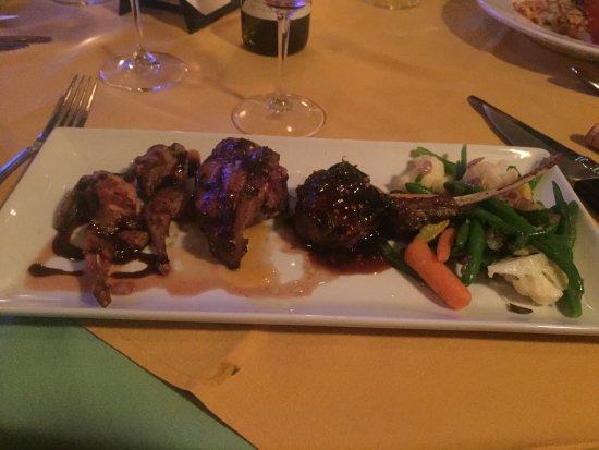 Antonio Ristorante : Mixed grill of Lamb, Wild Boar and Roasted Quail