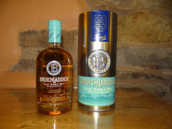 Whitbeck, UK: Bruichladdich 20 year old first edition whisky