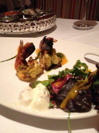 Chutneys: Grilled shrimp