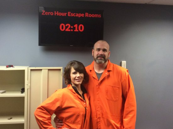 Zero Hour Escape Rooms: Finished with 2 minutes to spare! Not bad for a married couple :-)