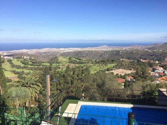Santa Brigida, Spanyol: Blick aus dem Zimmer + Golfplatz