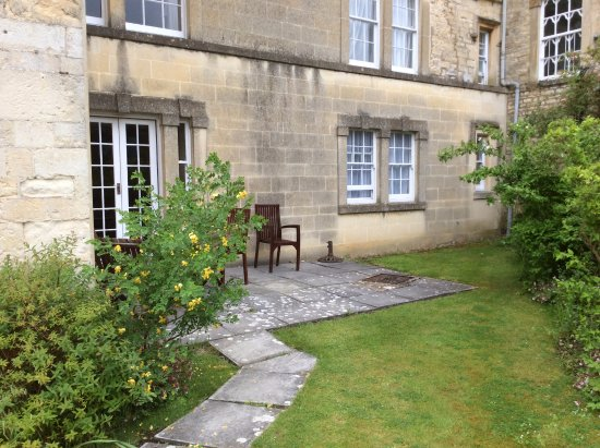 Uley, UK: The private patio for apartment 7