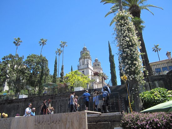 Hearst Castle: View from Main stairway