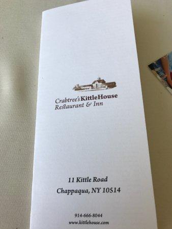 Crabtree's Kittle House Restaurant & Inn: Menu