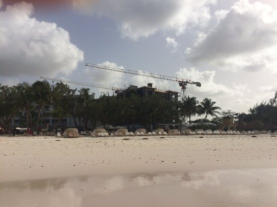 Cranes that are over Caribbean Village area by main pool