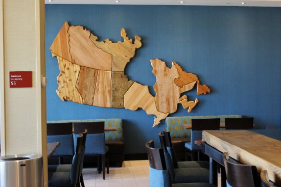 Map 0f Canada.Wooden Map Of Canada Picture Of Towneplace Suites By Marriott