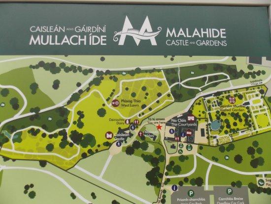 Malahide Castle: Malahide - the map