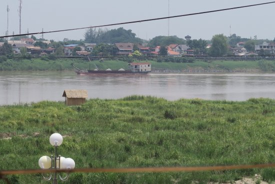 View across Mekong River towards Thailand from Sayasak Pakpasak Restaurant