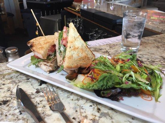 Baileys Harbor, WI: Great Turkey Sandwich and Salad!!!! Soooooo good!