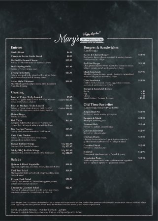 Dalby, Australia: Updated Menu Page 1