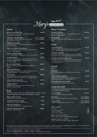 Dalby, Australia: Updated Menu Page 2