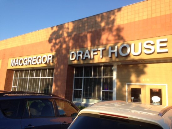 macgregor draft house cary menu prices restaurant reviews rh tripadvisor co uk