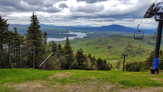 Dover, VT: View from the top of Mount Snow - one of the clue locations