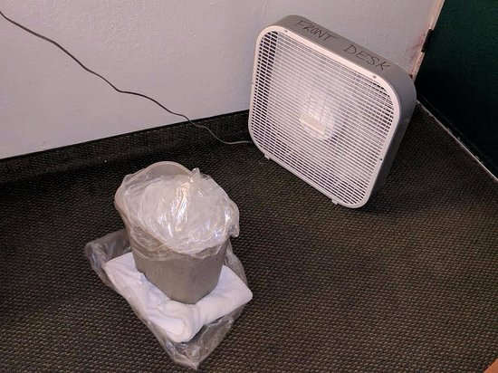 Riverchase Motel: This is what you're left with when the AC doesn't work in your room. Room 119 on 5/27/2017