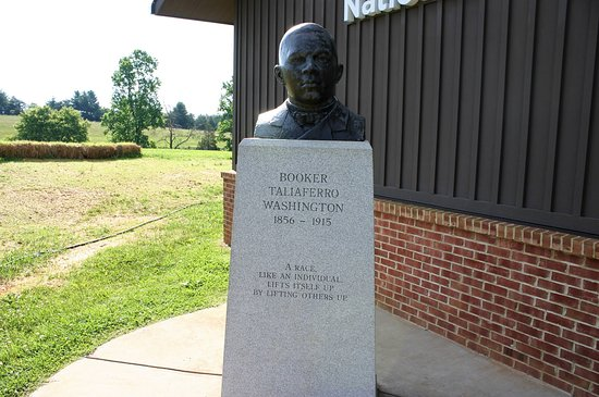 Hardy, VA: Bust of Booker T. Washington