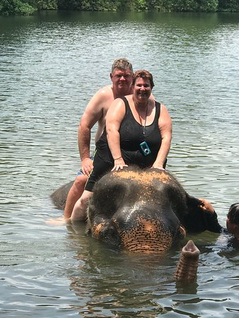 Kok Chang Safari Elephant Trekking: Fantastic ride in the water the elephants are so well trained and the keeps are perfect with the
