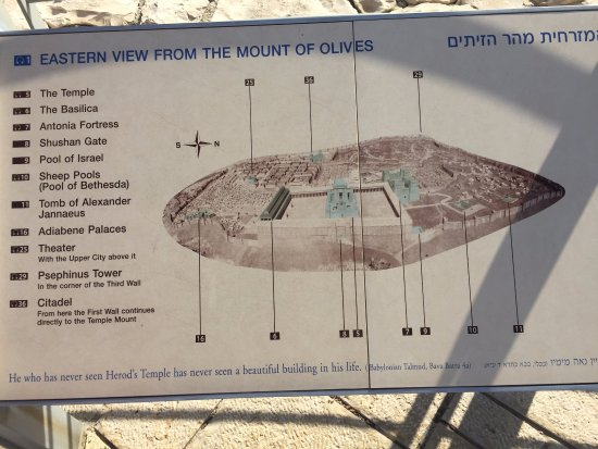 Second Temple Period Model  map with info  Picture of Second