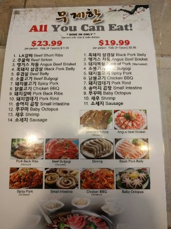 Gangnam BBQ: All you can east special