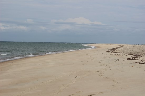 Beaufort, Carolina del Norte: The beach shuttle drops you off at the point.