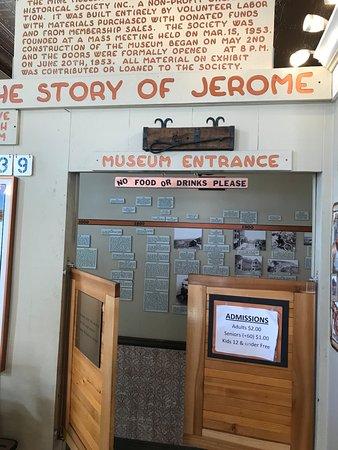 Джером, Аризона: entrance