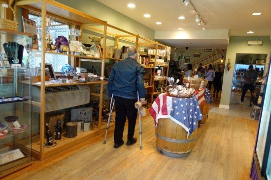 Nashoba Valley Winery: Part of the shop at Nashoba Winery