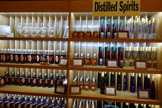 Bolton, MA: Wine shop at Nashoba - whiskey and various brandies are also available.