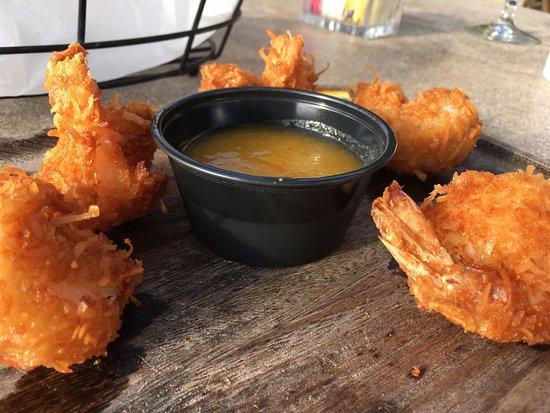 Del Mar, Californie : Coconut shrimp - yummy!