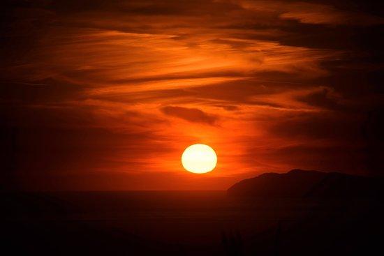 Villa Damecuta: sunset from terrace